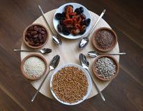 Здоровая еда, сырцовая еда Стоковое Фото