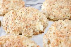 Здоровая еда - торты овса Стоковое Фото