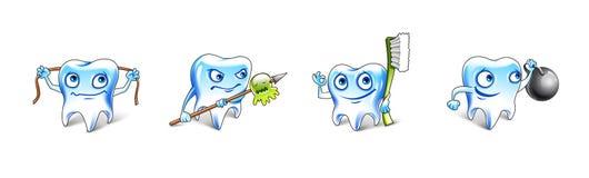 Здоровая иллюстрация зубов Стоковое фото RF