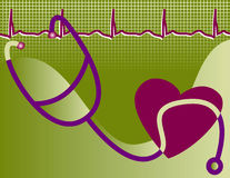 здоровая иллюстрация сердца Стоковое Изображение RF