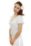 Здоровая кожа молодой красивейшей стороны женщины Стоковое фото RF
