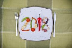 Здоровая концепция еды 2018 Стоковые Фотографии RF