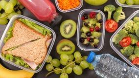 здоровая концепция обеда стоковое изображение rf