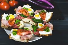 Здоровая, красочная еда сезона Стоковое Изображение RF