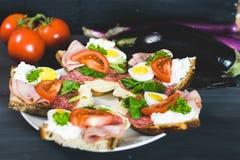 Здоровая, красочная еда сезона Стоковые Изображения RF