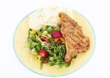 здоровая плита еды Стоковое Изображение RF