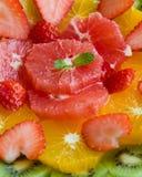 Здоровая плита плодоовощ Стоковое фото RF