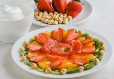 Здоровая плита плодоовощ Стоковые Фото