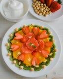 Здоровая плита плодоовощ Стоковая Фотография