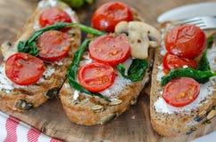 здоровая принципиальная схема завтрака еда здоровая стоковое изображение