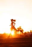 здоровая тренировка бегунка Стоковые Изображения RF