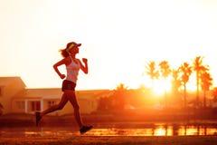 здоровая тренировка бегунка Стоковая Фотография