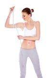 здоровая sporty женщина Стоковые Изображения