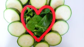 Здоровое вегетарианское сердце Стоковое Изображение RF
