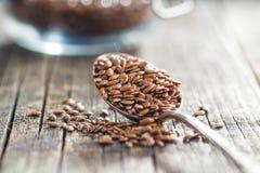 Здоровое коричневое льняное семя Стоковая Фотография