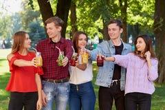 здоровое питание Друзья выпивая чай вытрезвителя Стоковое Изображение RF