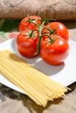 Здоровое питание итальянки спагетти Стоковая Фотография