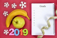 Здоровое разрешение на Новый Год 2019 стоковые фотографии rf