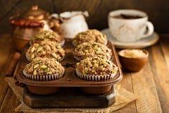 Здоровые булочки тыквы с семенами Стоковая Фотография