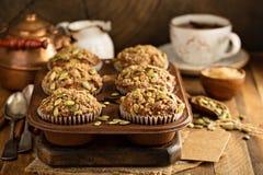 Здоровые булочки тыквы с семенами Стоковые Изображения