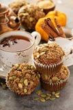 Здоровые булочки тыквы с чаем и специями Стоковые Изображения