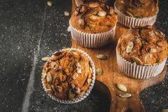 Здоровые булочки тыквы Стоковые Изображения RF