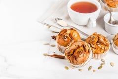 Здоровые булочки тыквы Стоковая Фотография