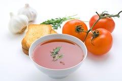 здоровые домодельные овощи томата супа Стоковое Изображение