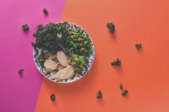 Здоровые еда, еда диеты - овощи и цыпленок стоковое изображение