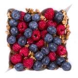 Здоровые завтраки на плите стоковая фотография
