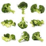 Здоровые зеленые органические сырцовые Florets брокколи готовые для варить Стоковые Изображения RF