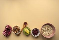 Здоровые ингридиенты завтрака Стоковые Фото