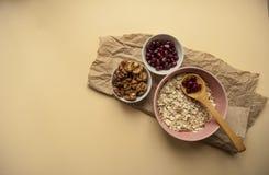 Здоровые ингридиенты завтрака Стоковое Изображение