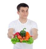 здоровые овощи салата человека вегетарианские Стоковое Фото