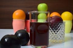 Здоровые плодоовощи и гайки стоковое изображение