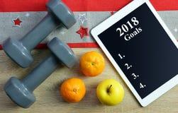 Здоровые разрешения на Новый Год 2018 Стоковые Фотографии RF