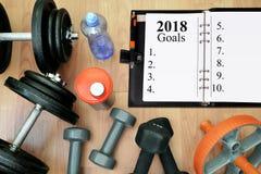 Здоровые разрешения на Новый Год 2018 Стоковое фото RF