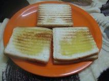 Здоровые тосты сыра стоковая фотография