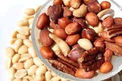 здоровые nutritious гайки стоковое изображение rf