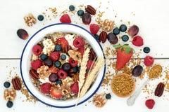 Здоровый вегетарианский завтрак Superfood стоковое изображение