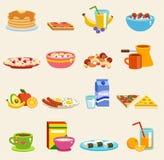 Здоровый вектор еды завтрака иллюстрация вектора