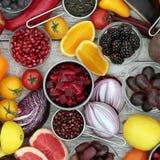 Здоровый выбор еды Стоковое Изображение