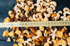 Здоровый завтрак на деревянной предпосылке Еда для потери веса стоковое фото