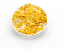 Здоровый завтрак хлопьев с молоком Стоковые Фото