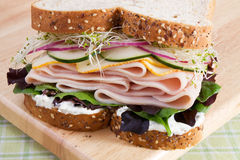 здоровый индюк сандвича стоковые фотографии rf