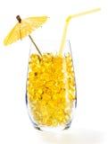 Здоровый коктеил витамина: пилюльки в стекле Стоковое Изображение RF