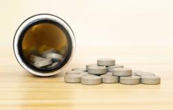 Здоровый минеральный конец-вверх пилюлек витамина Стоковое Изображение RF