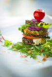Здоровый обед (сырцовая еда) Стоковые Изображения RF