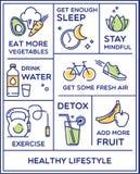 Здоровый плакат образа жизни Стоковые Изображения