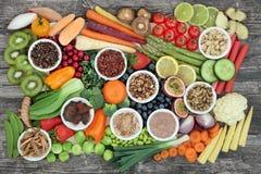 Здоровый супер образец еды Стоковые Фотографии RF